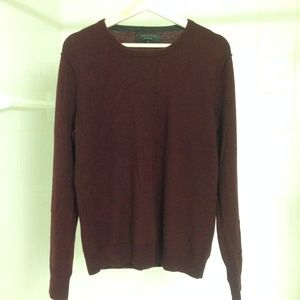 Rag & Bone Red Wool Sweater Medium Outside Seams